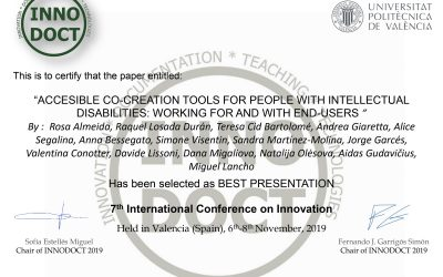 Polibienstar as partner of Mind Inclusion attends the Innodoct Conference 2019